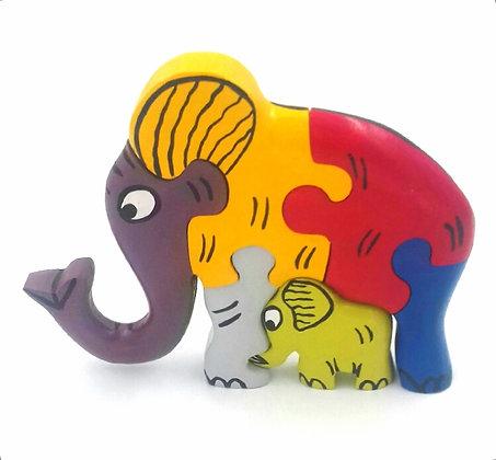 Puzzle éléphant en bois
