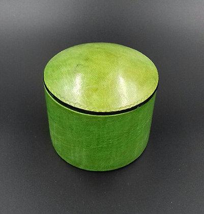 Boite en cuir vert anis