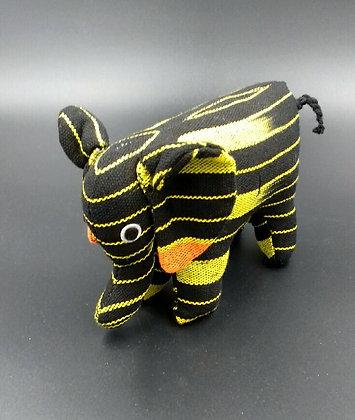 Eléphant décoratif en tissu traditionnel