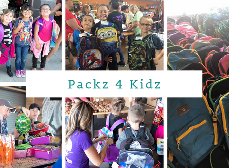 Evans Case Sponsors Children in Packz 4 Kidz Drive