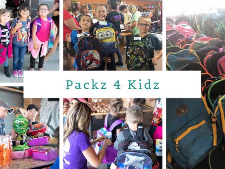 Evans Case Sponsors Children in Packz 4 Kidz Drive