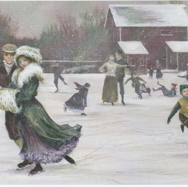 Skaters on Dell's Pond