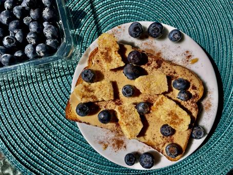 Tempeh Blueberry Tahini Toast