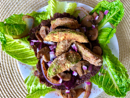 Crispy Avocado Balsamic Mushroom Tacos