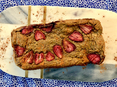 Strawberry Banana Bread Bars with Sneaky Vegetables