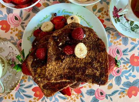 Vegan Chocolate French Toast and International Women's Day