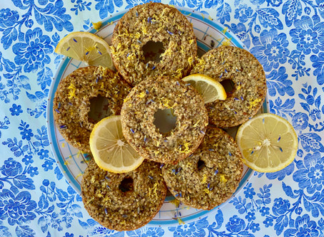 Lavender-Infused Lemon Poppyseed Donuts