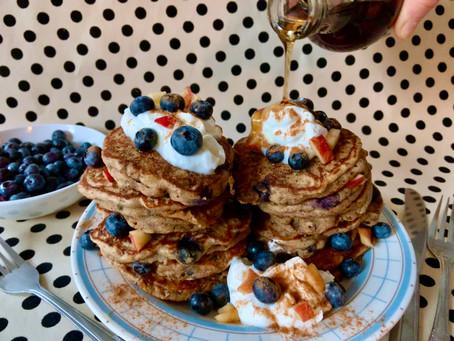 Wild Rice Blueberry Apple Pancakes