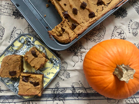 Triple Layer Healthy Pumpkin Cookie Dough Brownies