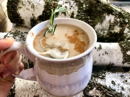 Rosemary Syrup and Oat Milk Latte