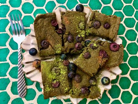Matcha Blueberry Sheet Pancake