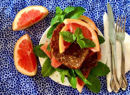 Grapefruit French Toast with Fresh Mint (Vegan)