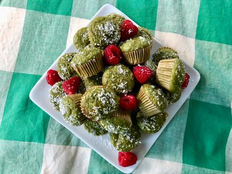 Matcha Coconut Muffins