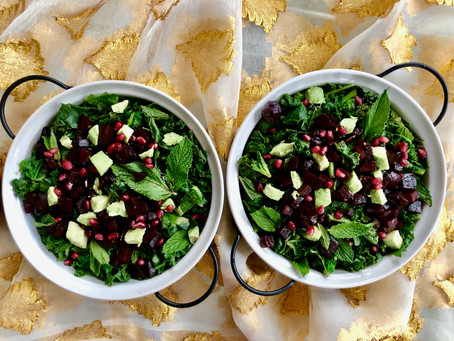 Easy Green and Red Salad