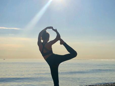 Yoga Mermaid Pose