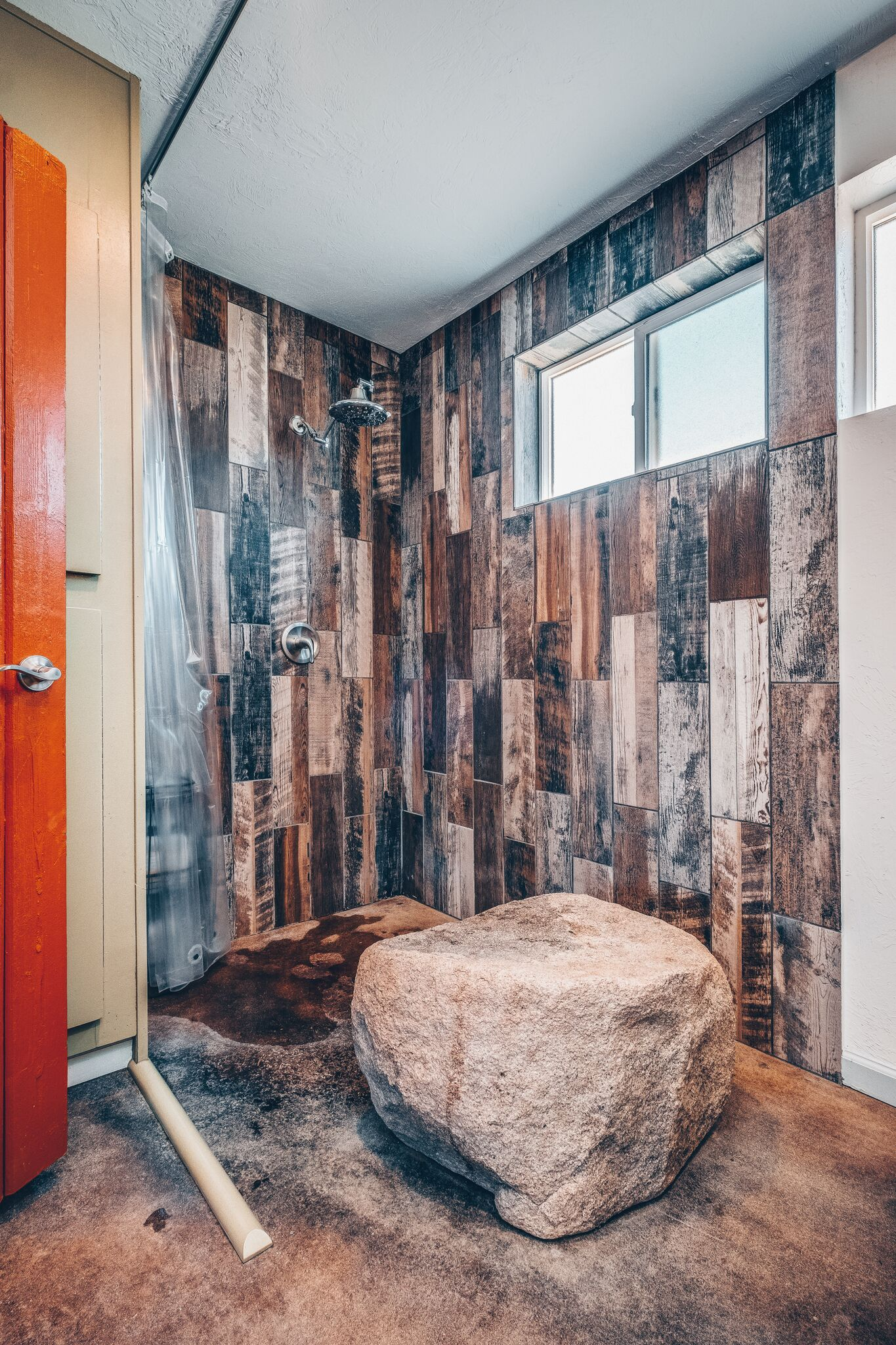 Open Rock Shower