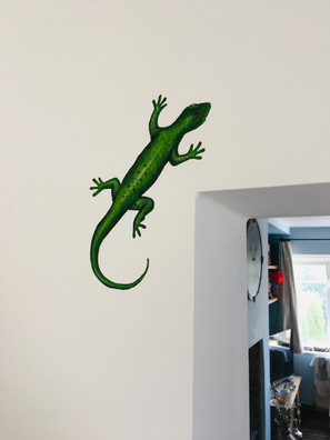 Lizard mural