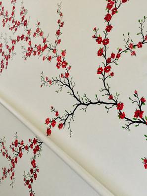 Floral stair mural
