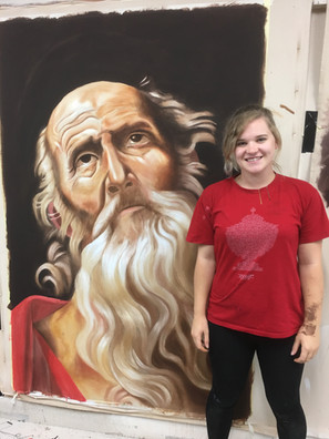 Large cloth painting