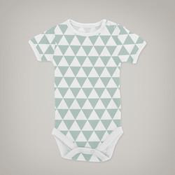 Green Triangles Onesie