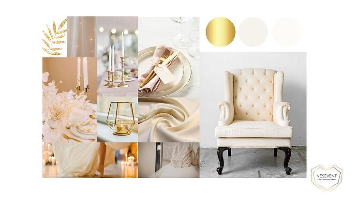 mood board décoration mariage  ivoire et doré.jpg