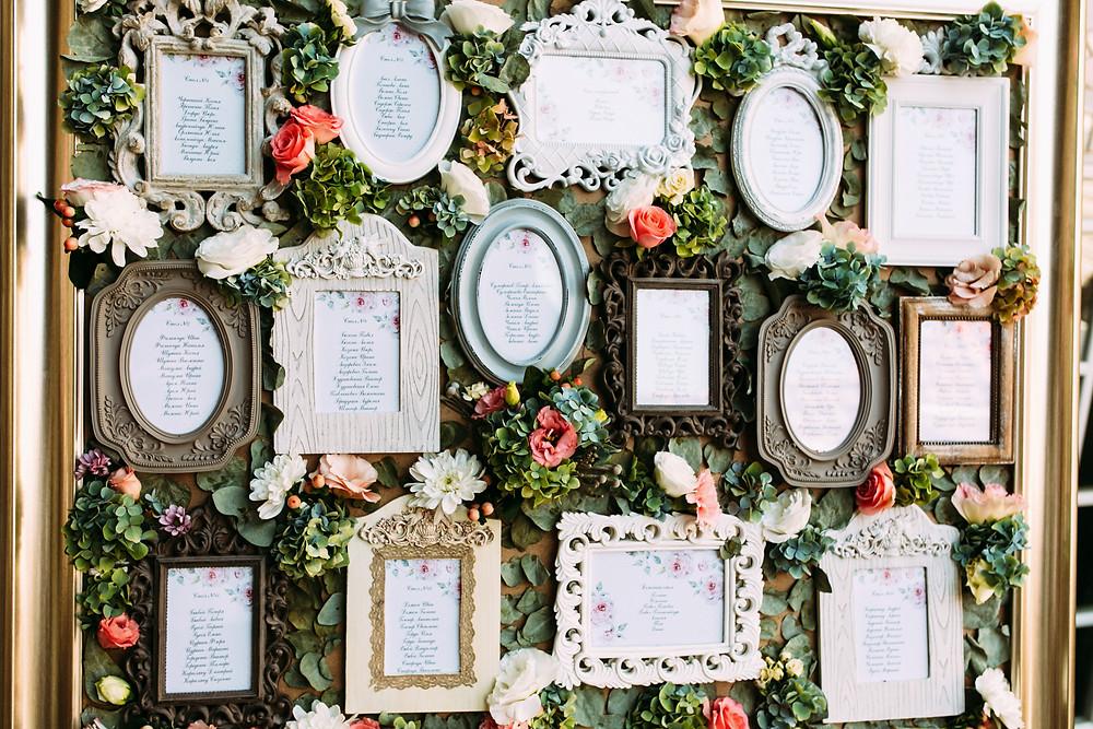 Décoration plan de tables thème vintage