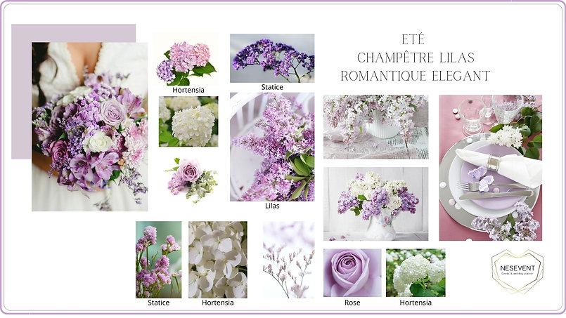 Eté champêtre Lilas romantique élégant.j