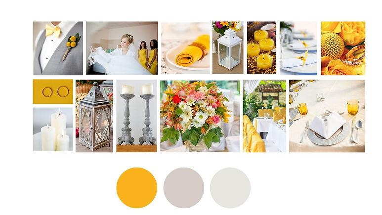 planche d'ambiance jaune moutarde 2021 (