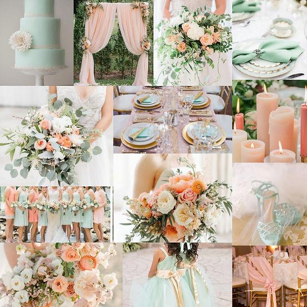 décoration mariage pêche et menthe.jpg