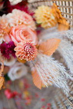 Beautiful autumn wedding bouquet with or