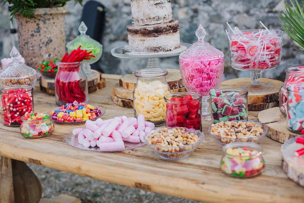 Bar à bonbons Candy bar mariages