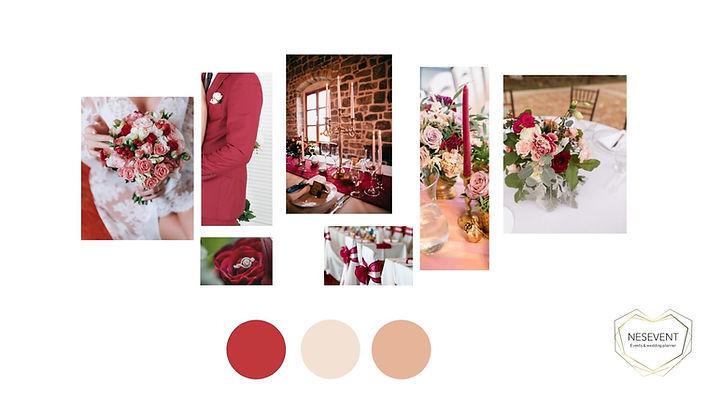 décoration mariage marsala et vieux rose poudré  planche d'ambiance.jpg