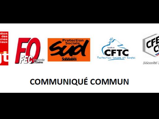 [#Sécuritésociale] RPN CLASSIFICATION : Communiqué commun CGT, FO, CFTC, CFE-CGC et SUD