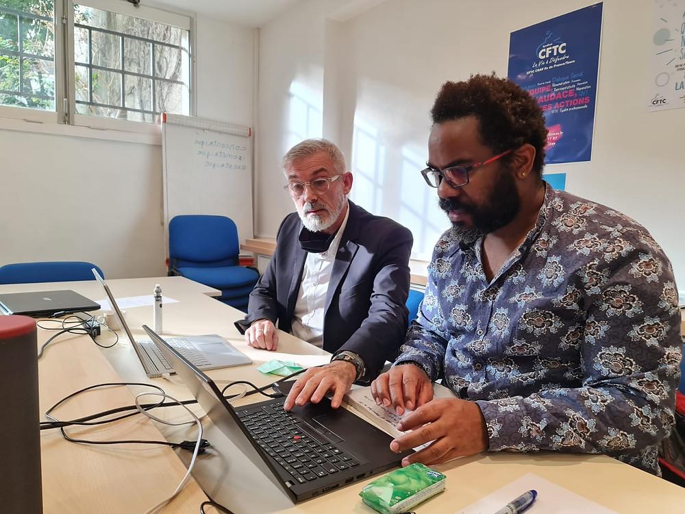 Julien Prissaint et Jacques Pech