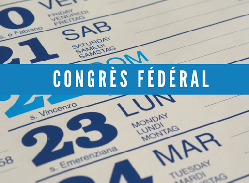 [AGENDA] Congrès fédéral restreint en visioconférence