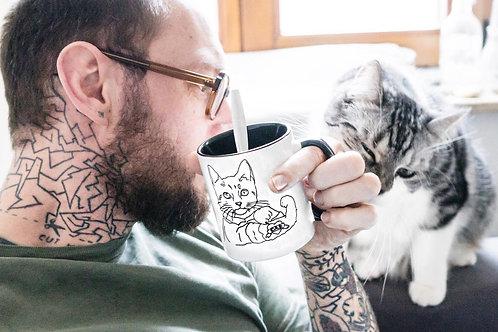 """Tattoo Cat Cup """"Dad"""""""