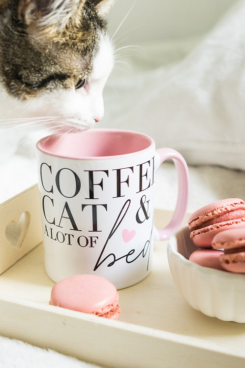 Coffee, Cat & Bed Cup