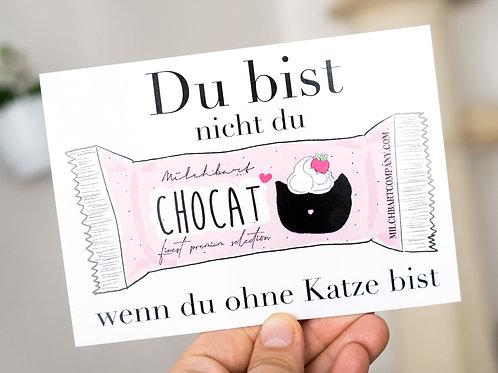 """Postkarte """"Chocat Riegel"""""""
