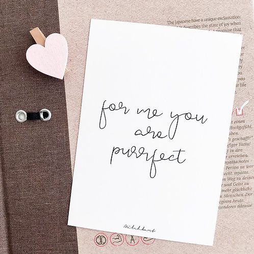 "Postkarte ""Purrfect"""