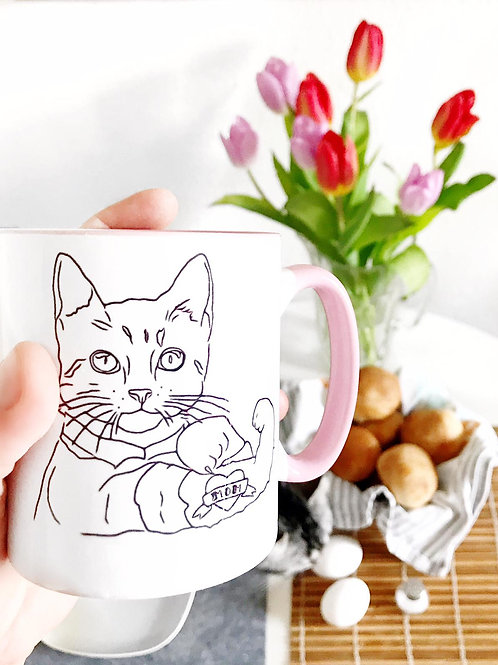 "Tattoo Cat Cup ""Mom"""