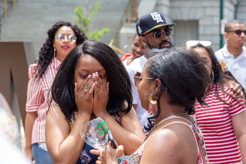 De'Shera is still in shock after Nic's classic proposal in Norfolk, VA.
