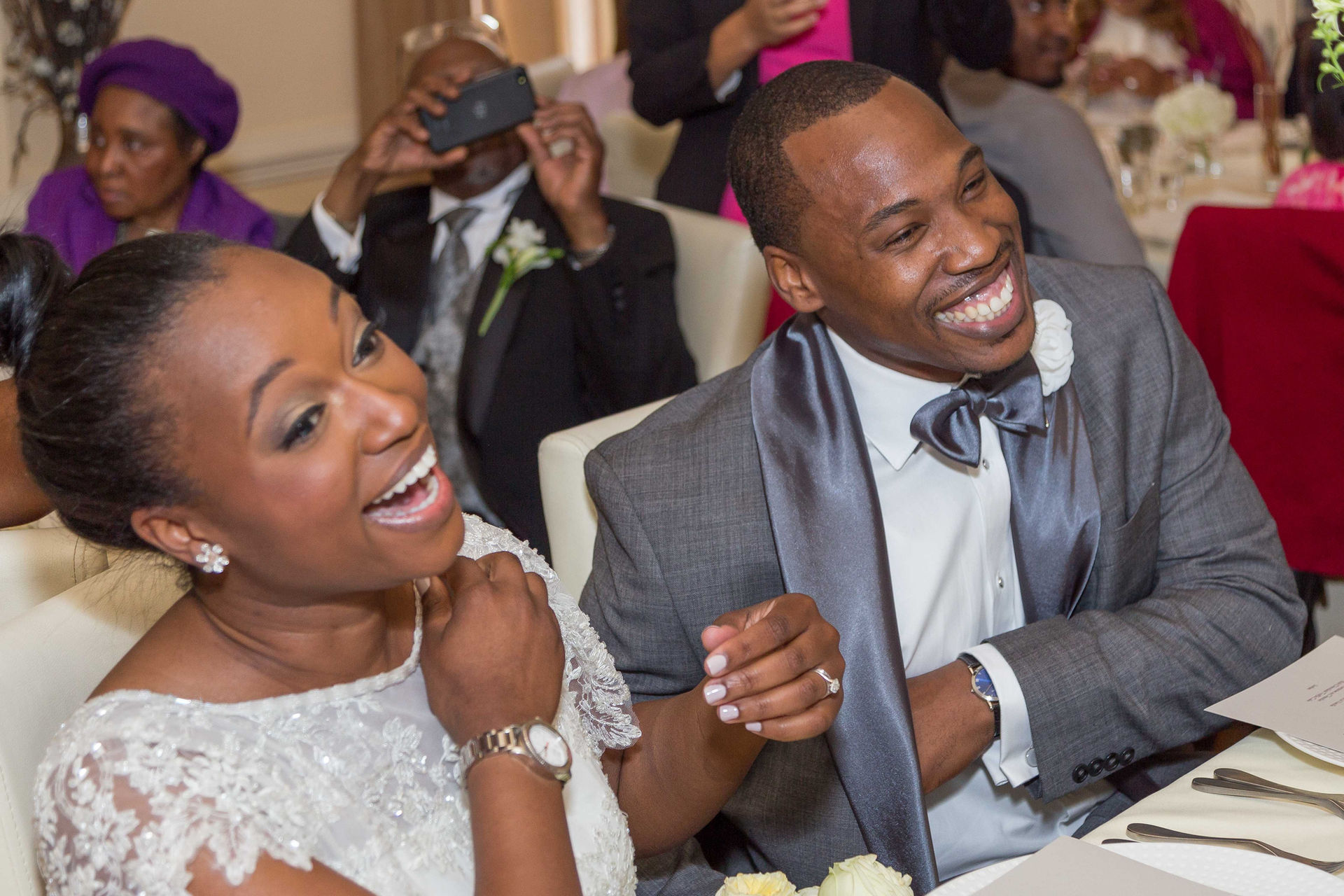 Bride And Groom Sharing a Laugh