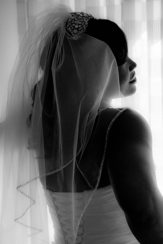 Bride in her dress before the Wedding in Hampton