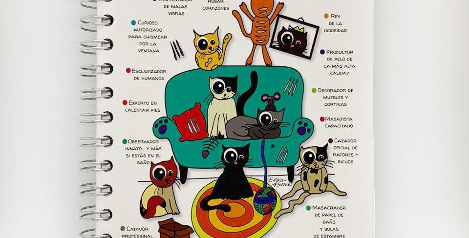 """Libreta """"Currículum de un gato"""" Kekitos-Mimos"""