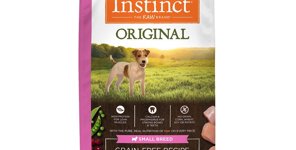 Instinct® Receta original sin granos con pollo real Razas Pequeñas