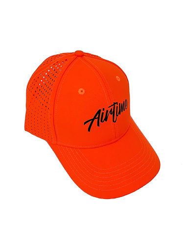Script Athletic Dad Hat - Flo Orange