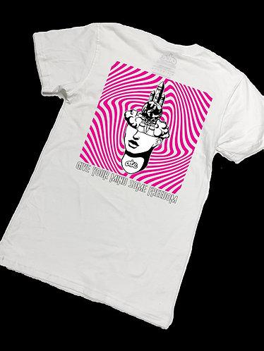 Mind Blown Pocket T-shirt - White/Pink