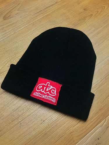 Patchy - Fold Up Beanie - Black