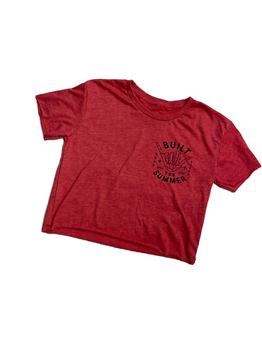 Built For Summer Crop Top - Red