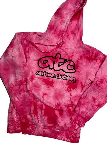 ATC Logo Hoodie - Pink Tie Dye